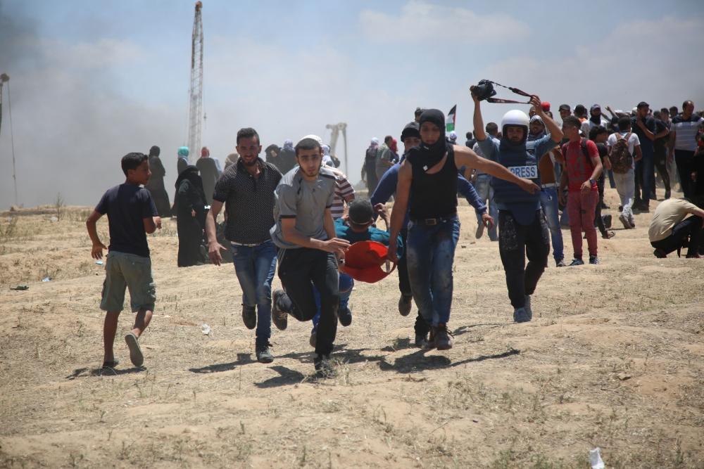 Kudüs protestosunda İsrail katliamı 11