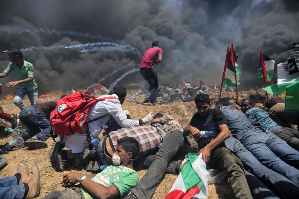 Kudüs protestosunda İsrail katliamı 14