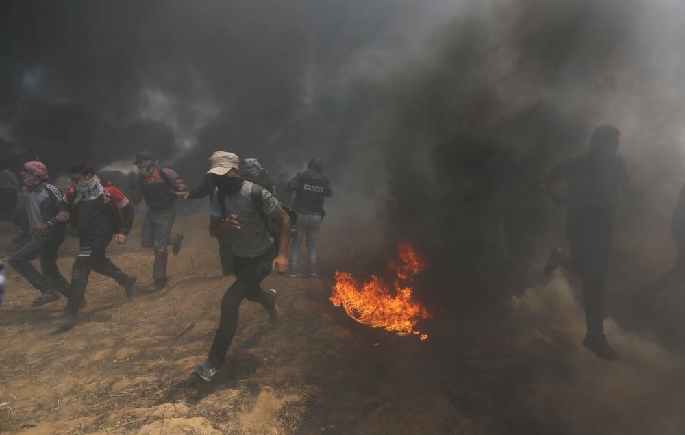 Kudüs protestosunda İsrail katliamı 16