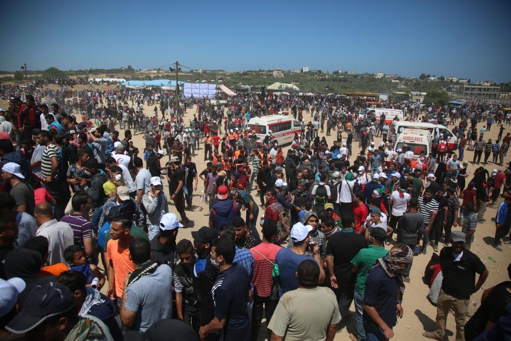 Kudüs protestosunda İsrail katliamı 4