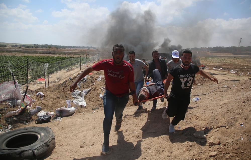 Kudüs protestosunda İsrail katliamı 5