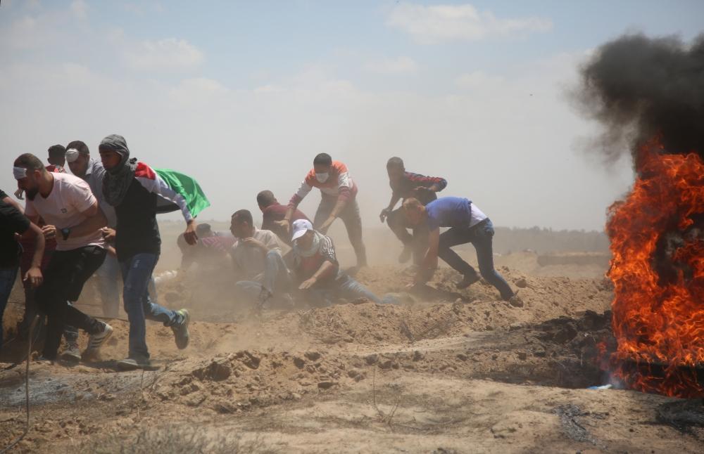 Kudüs protestosunda İsrail katliamı 8