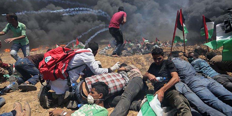 Kudüs protestosunda İsrail katliamı
