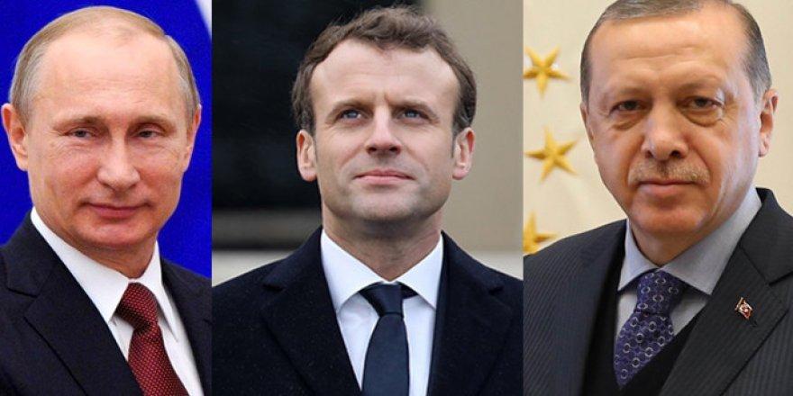 Macron, Suriye için Türkiye ve Rusya'dan destek istedi!