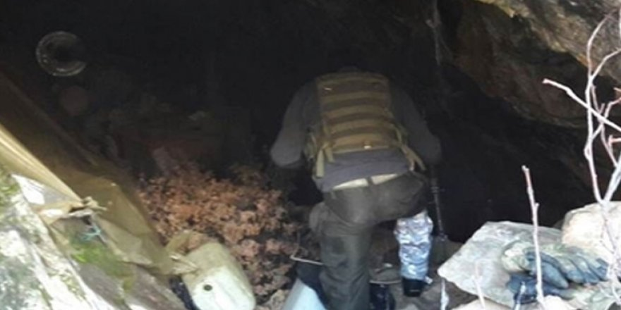 Tunceli'de 9 odalı terör sığınağı imha edildi