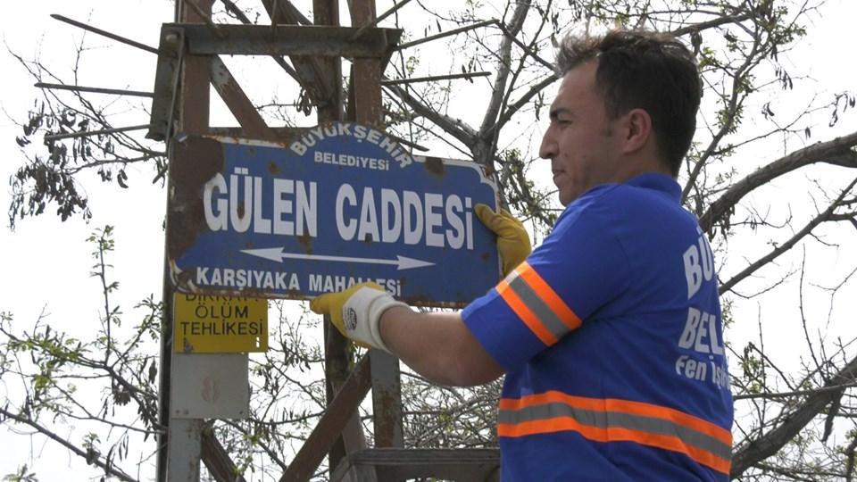 """Ankara'da """"Gülen"""" isimli cadde ve sokak tabelaları değiştirildi"""