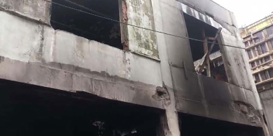 Şirinevler'de inşaatta yangın