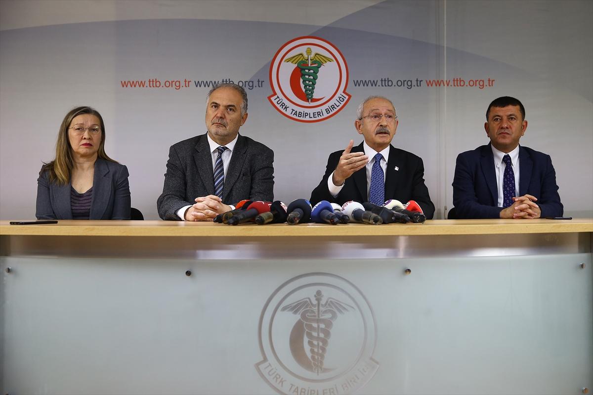 Kemal Kılıçdaroğlu'ndan TTB'ye ziyaret