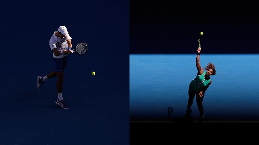 Djokovic ve Serena Williams üst turda