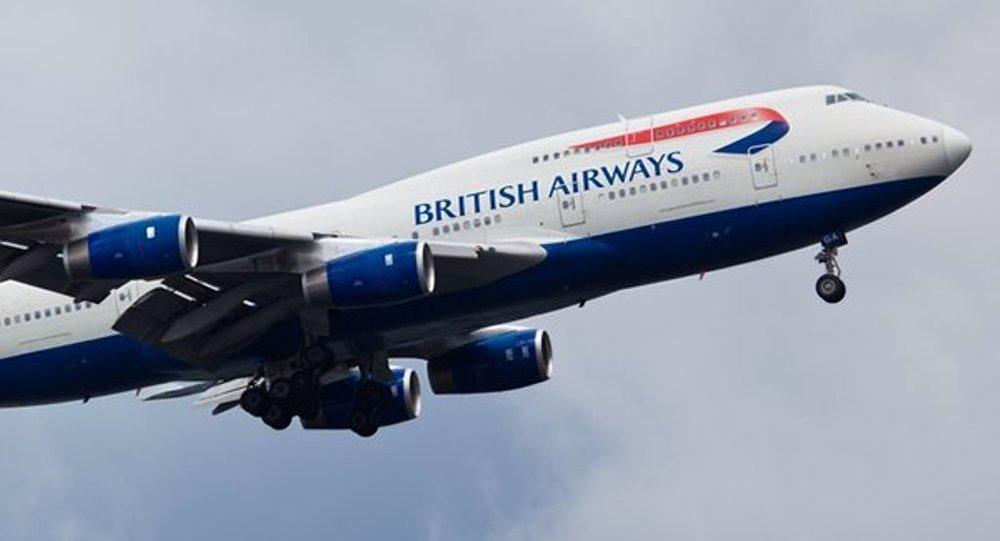 İngiltere'de uçak rüzgar nedeniyle iniş yapamadı