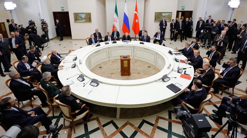 'Suriye' konulu Türkiye-Rusya-İran Üçlü Zirvesi yapıldı