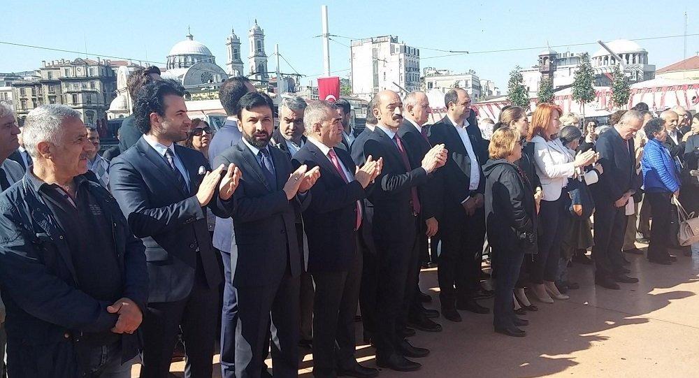 Taksim'deki 23 Nisan töreninde tartışma