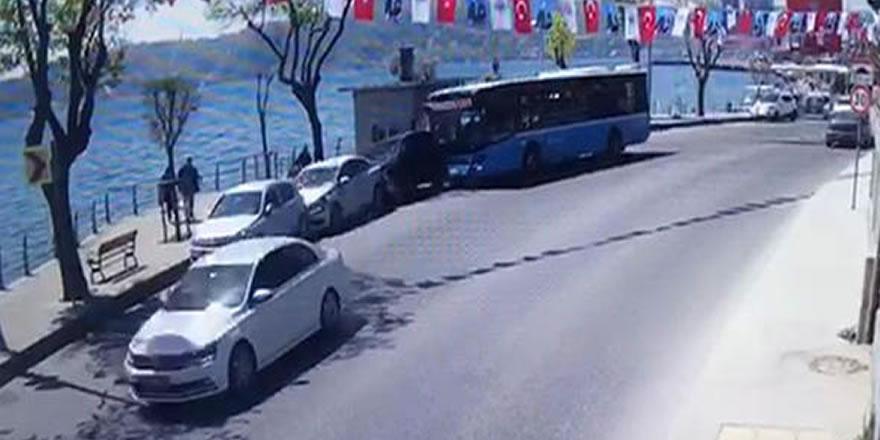 Halk otobüsü kontrolden çıktı