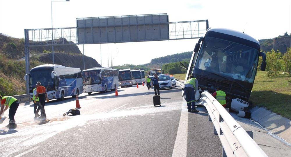 Yavuz Sultan Selim köprü girişinde kaza: 4 yaralı