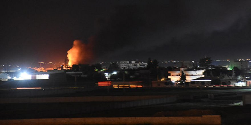 Kamışlı'da ardı ardına patlamalar! Alevler Nusaybin'den görülüyor!