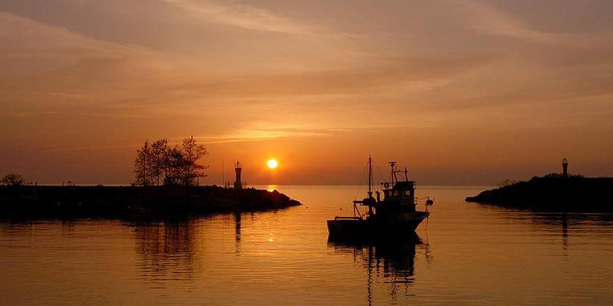 'Batı Karadeniz'in İncisi'nde gün batımı