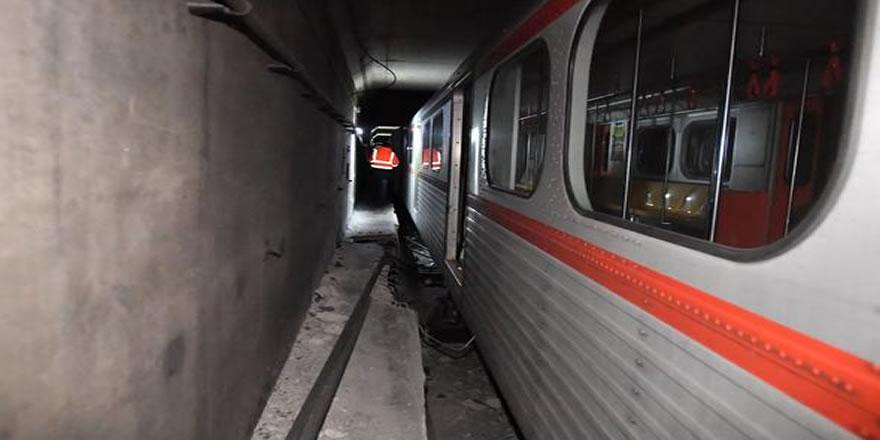 Ankara metrosunda kaza oldu. Seferler durdu