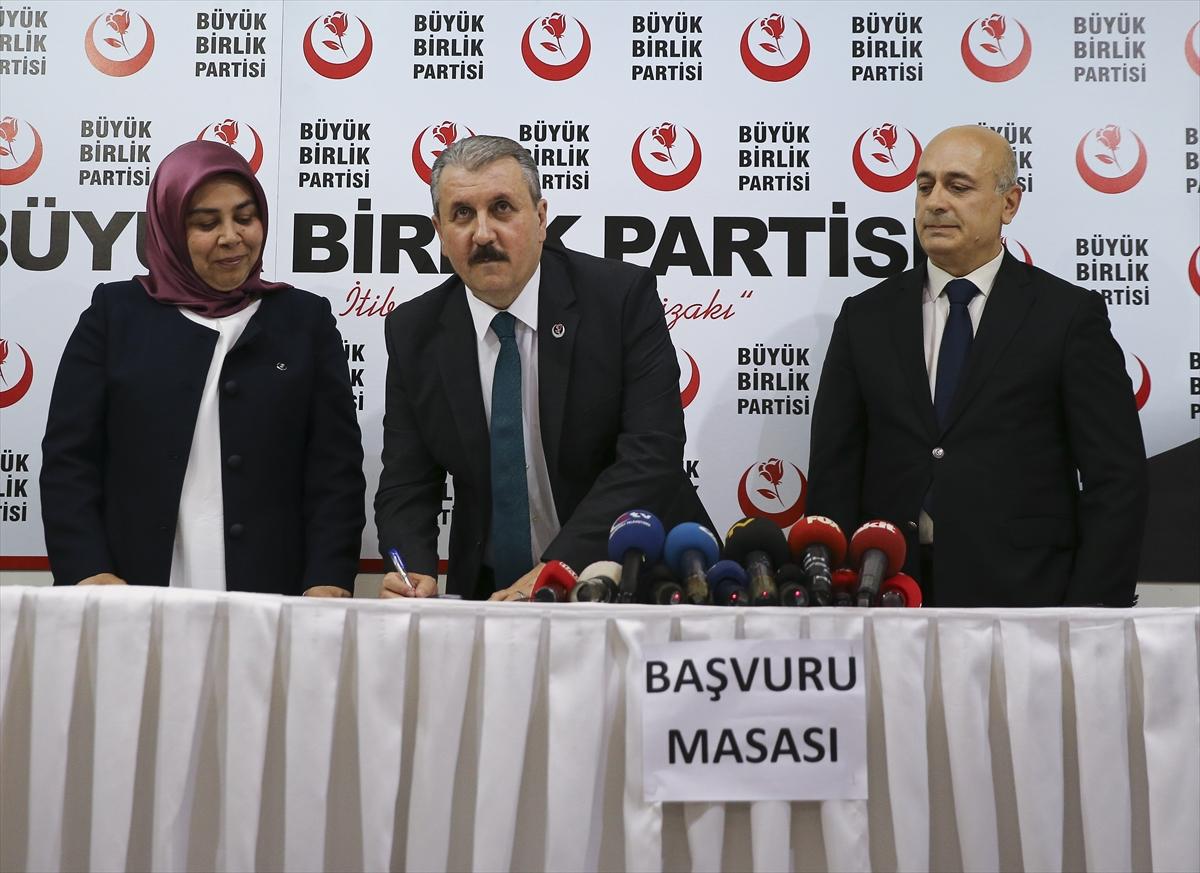 BBP Genel Başkanı Destici milletvekili adayı olacağını açıkladı