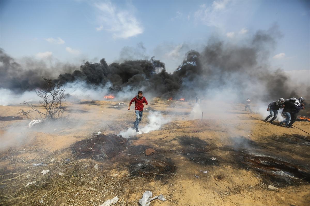 """""""Gazze'de """"Büyük Dönüş Yürüyüşü""""nde beşinci Cuma"""