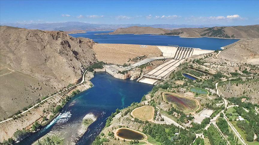 Keban'da 2019'da 9 yılın en yüksek enerji üretimi gerçekleştirildi