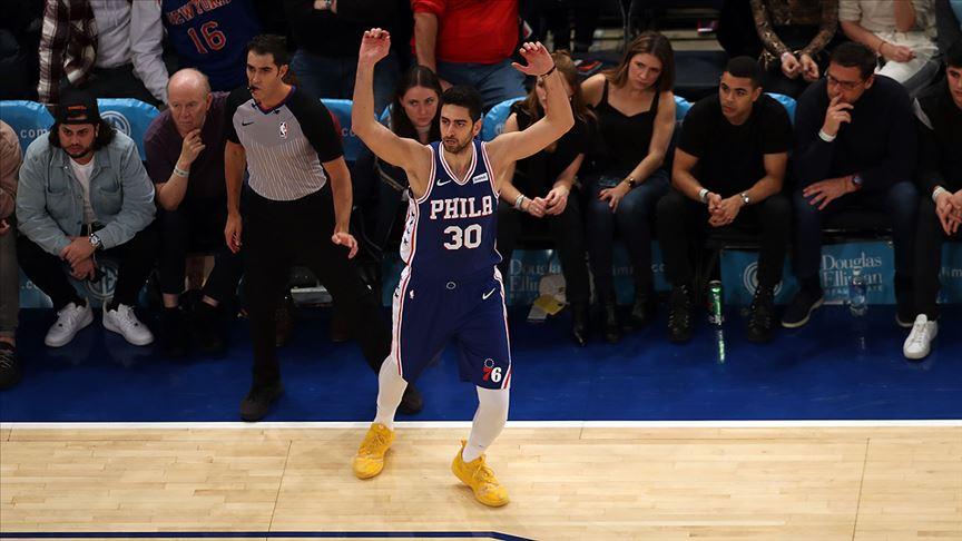 NBA'de Sixers'a galibiyeti, kariyer rekoru kıran Furkan Korkmaz getirdi