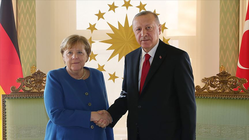 Erdoğan-Merkel görüşmesi başladı