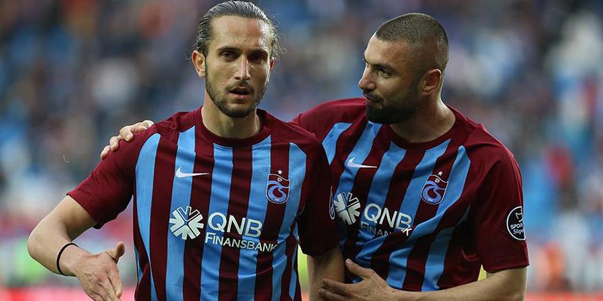 Trabzonspor'u Burak Yılmaz ve Yusuf Yazıcı taşıyor