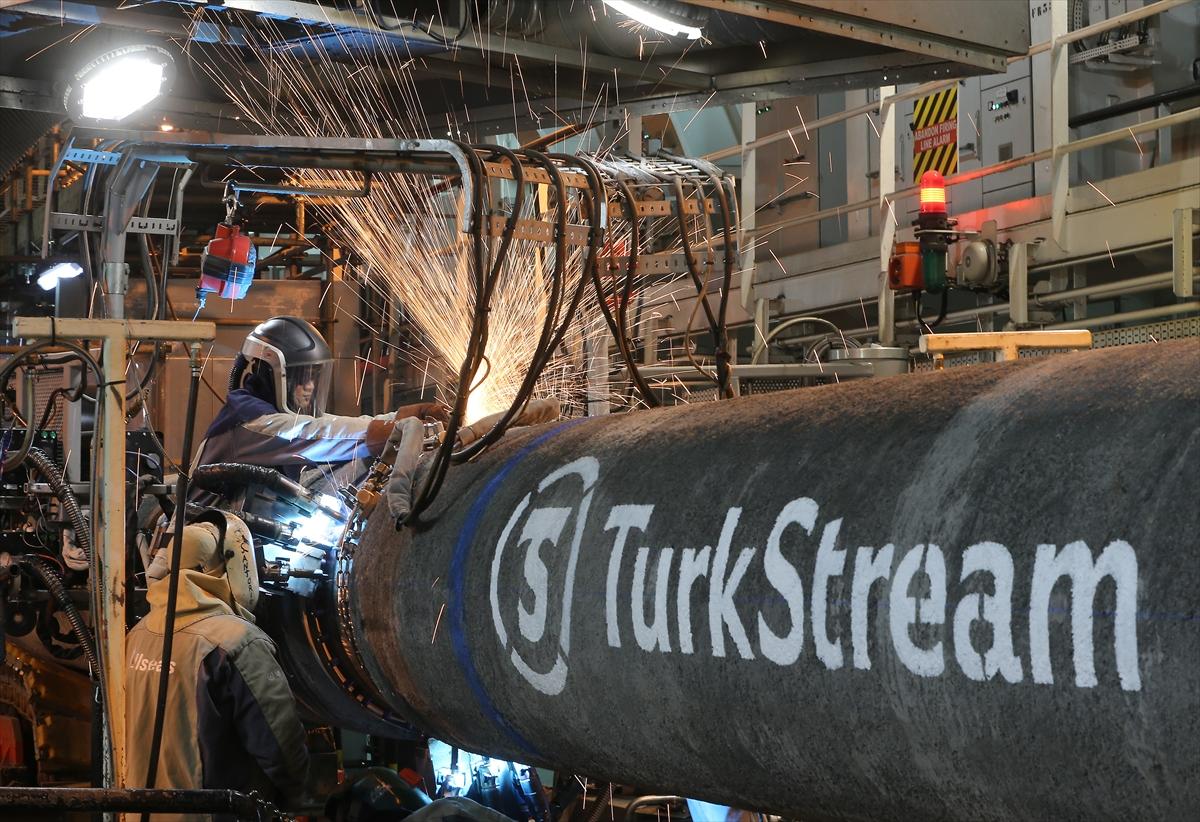 TürkAkım doğalgaz boru hattı Kıyıköy'e ulaştı