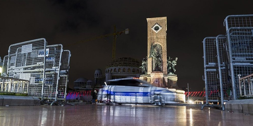 Taksim'de helikopter destekli polis denetimi