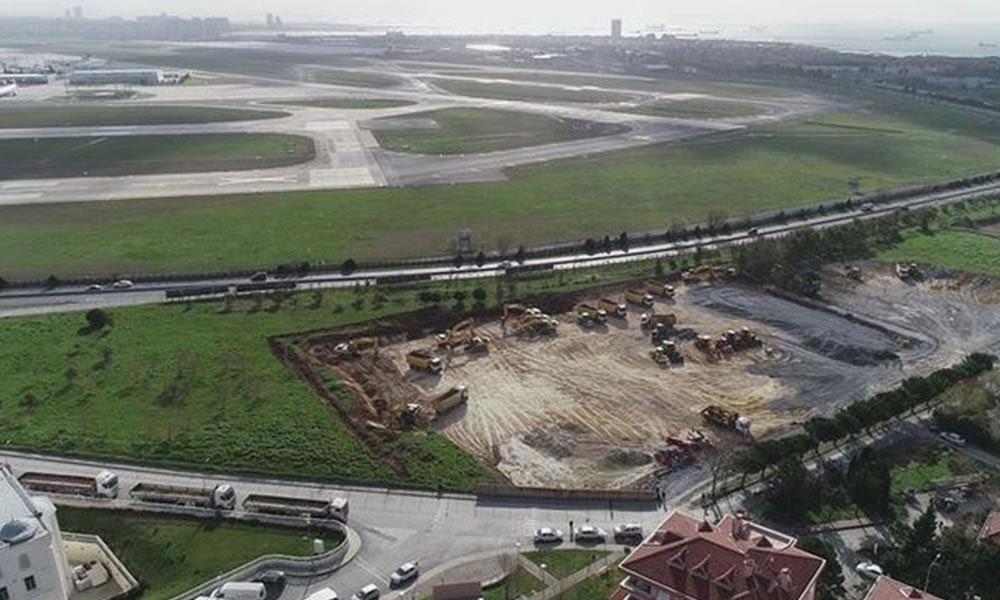 Atatürk Havalimanı ve Sancaktepe'ye kurulacak hastaneler için yapılan çalışmalar görüntülendi