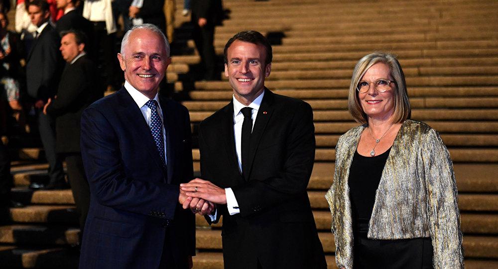 Fransa Cumhurbaşkanı Macron, Avustralya Başbakanı'nın eşi için 'leziz' dedi