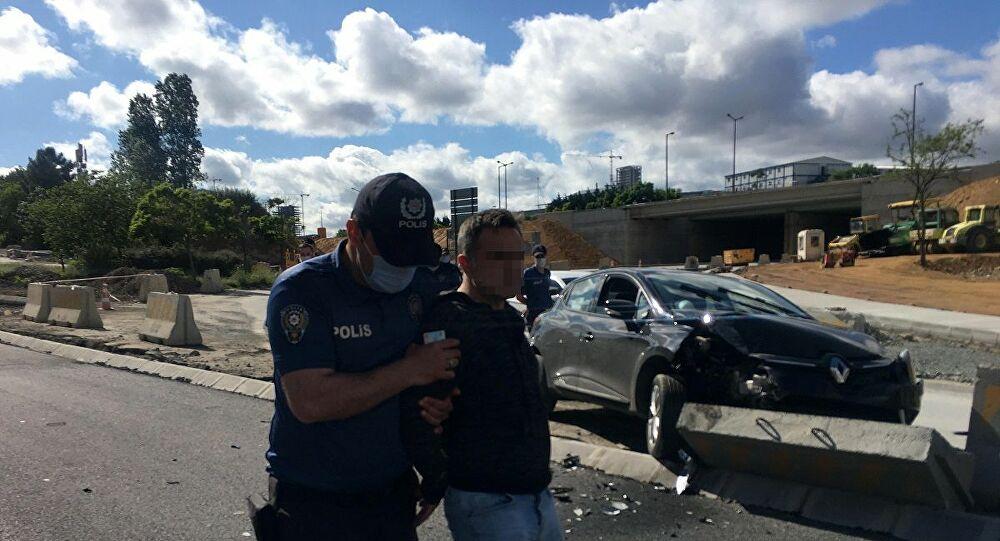 Taciz şüphelisi polisten kaçarken kaza yaptı: Eyvah, bitti her şey