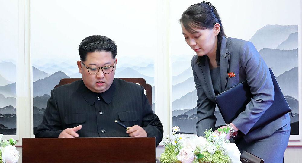Kuzey Kore karşıtı bildiriler kim'in kız kardeşini kızdırdı