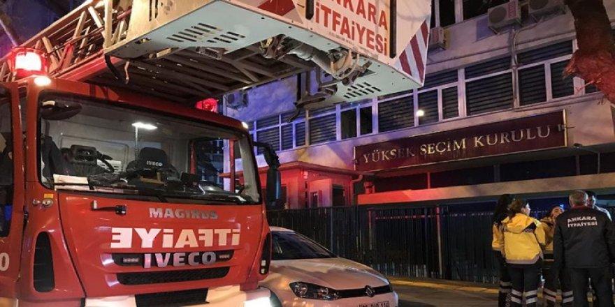 YSK binasında yangın çıktı