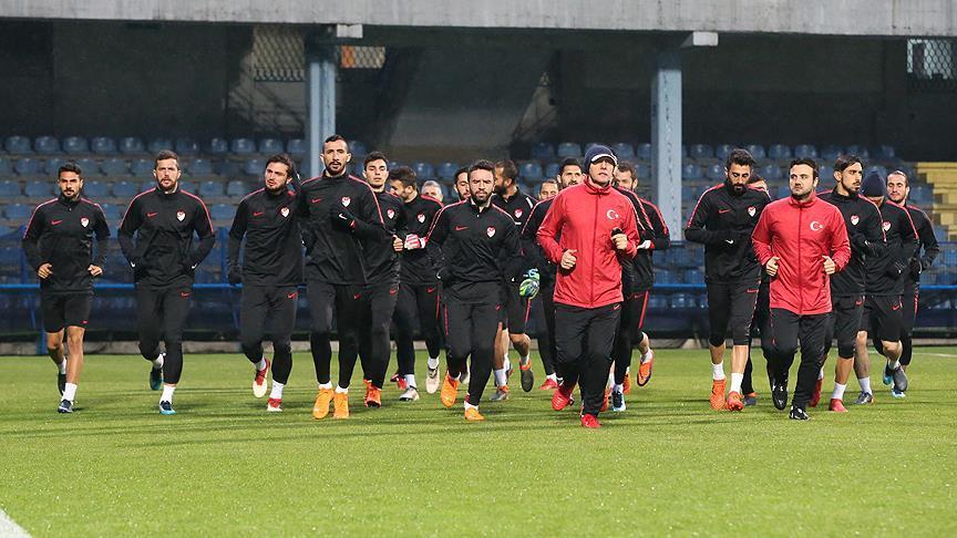 A Milli Futbol Takımı Karadağ maçına hazır