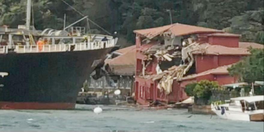 İstanbul Boğazı'nda kaza, M/V VITASPIRIT yalıya çarptı!