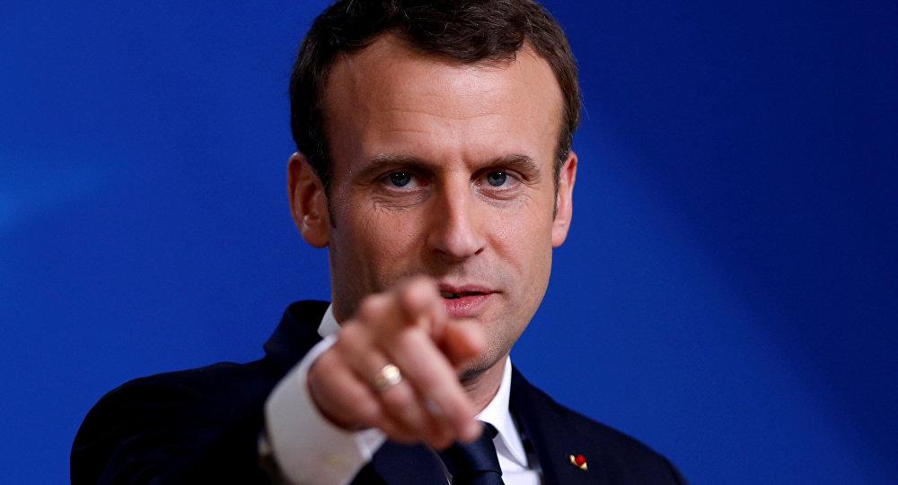 Macron'dan kimyasal silah açıklaması