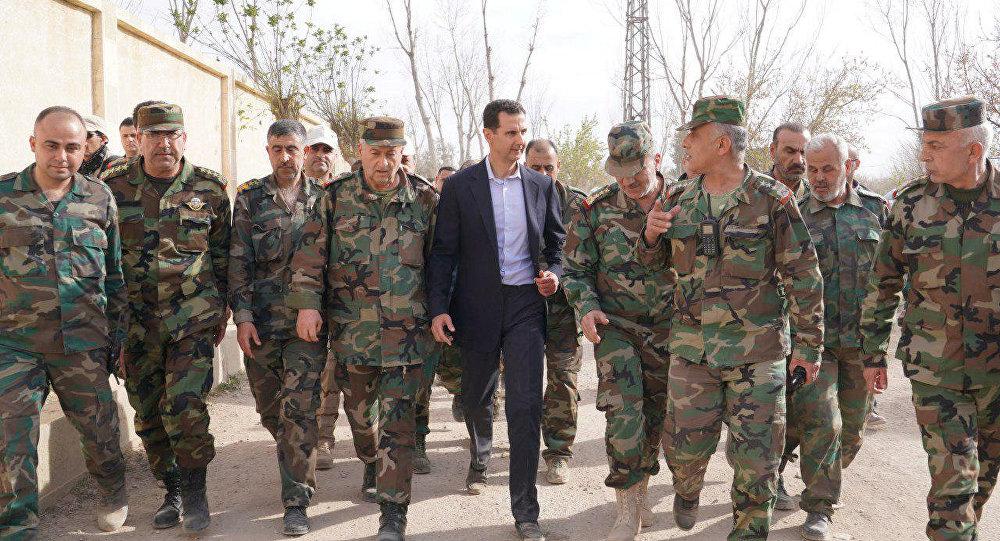 Suriye Devlet Başkanı Esad'ın sabah ofisine gitme görüntüleri yayımlandı