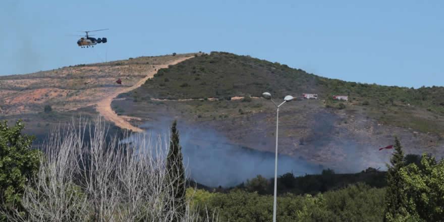 Tuzla'da bir arazide yangın çıktı